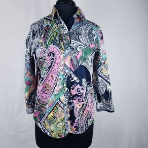 Ralph Lauren Button Down Floral Paisley Shirt Med